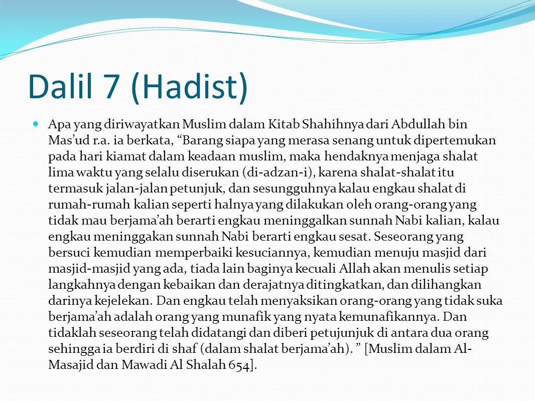Dalil 7 (Hadist)