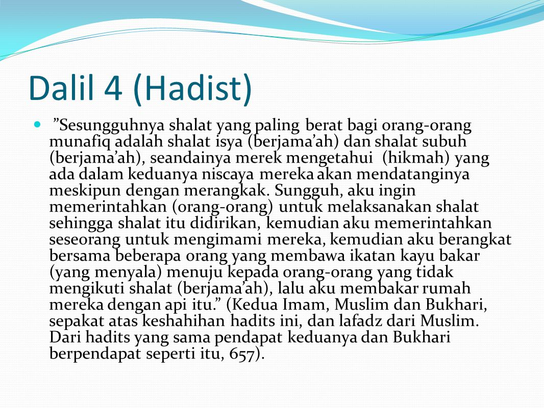 Dalil 4 (Hadist)