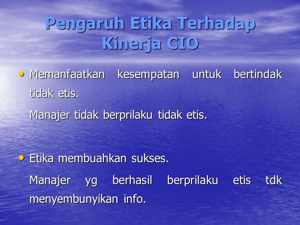 Pengaruh Etika Terhadap Kinerja CIO