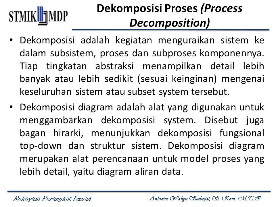 Dekomposisi Proses (Process Decomposition)
