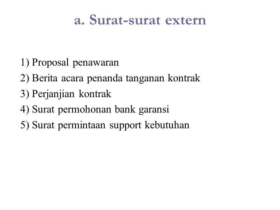 a. Surat-surat extern