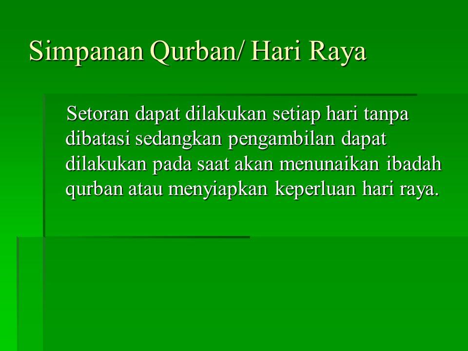 Simpanan Qurban/ Hari Raya