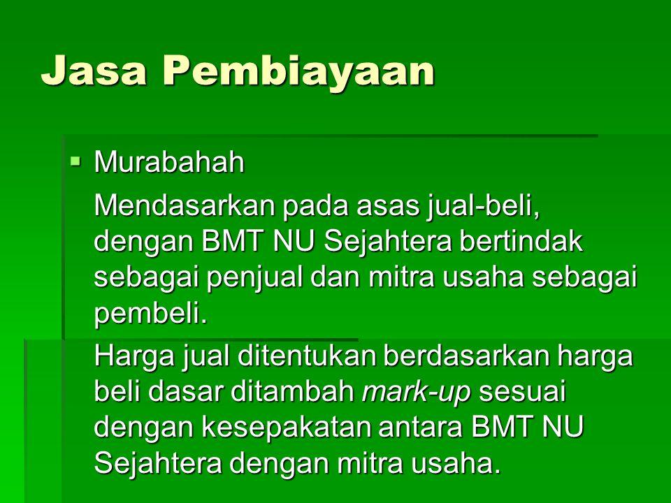 Jasa Pembiayaan Murabahah