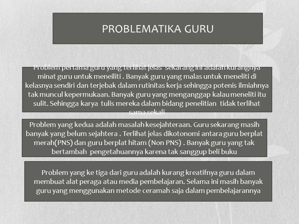 PROBLEMATIKA GURU