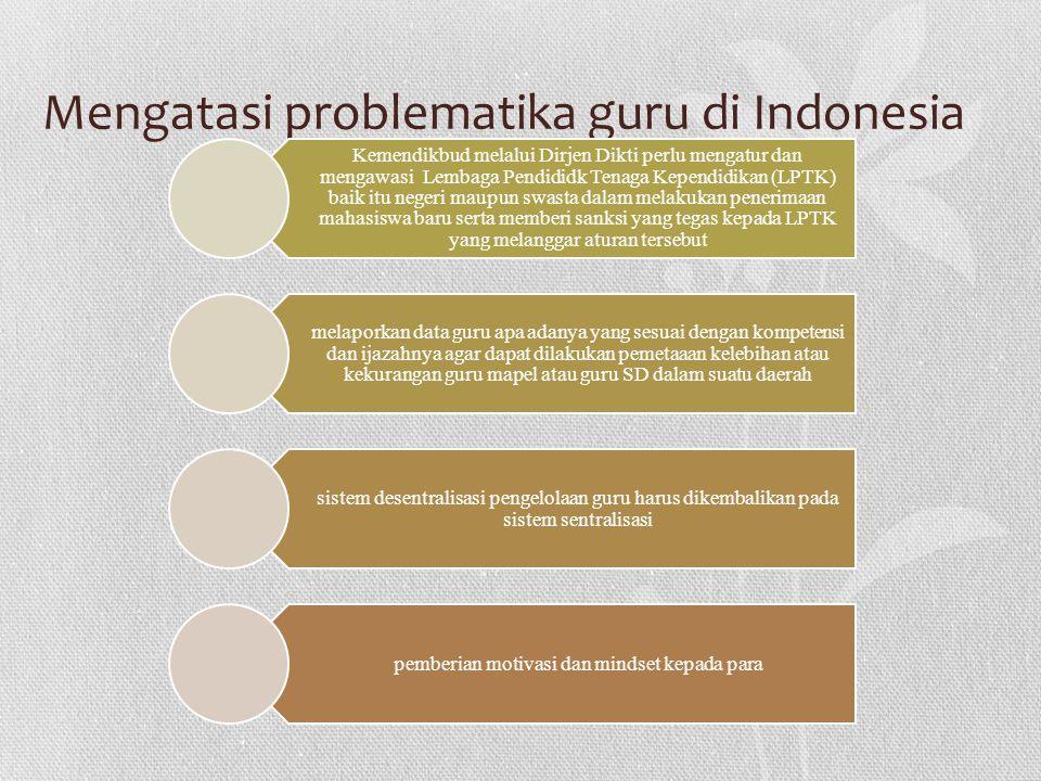 Mengatasi problematika guru di Indonesia