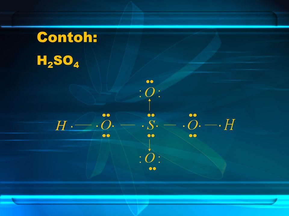 Contoh: H2SO4