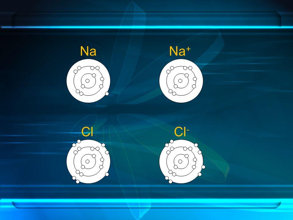 Na Na+ Cl Cl-