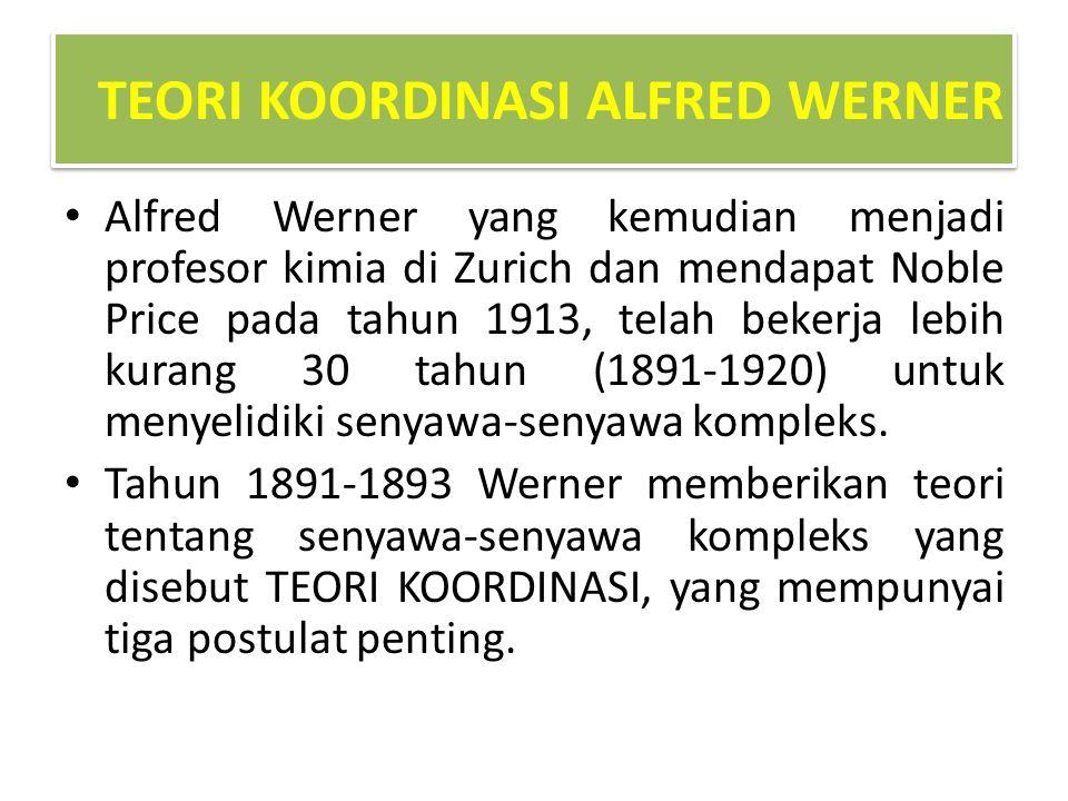 TEORI KOORDINASI ALFRED WERNER