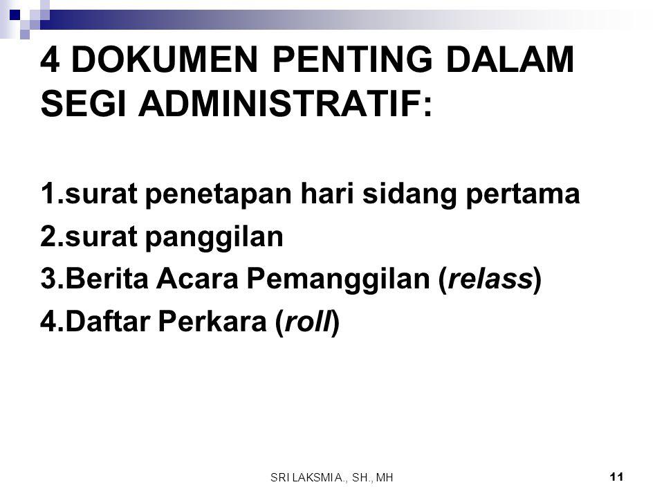 4 DOKUMEN PENTING DALAM SEGI ADMINISTRATIF: