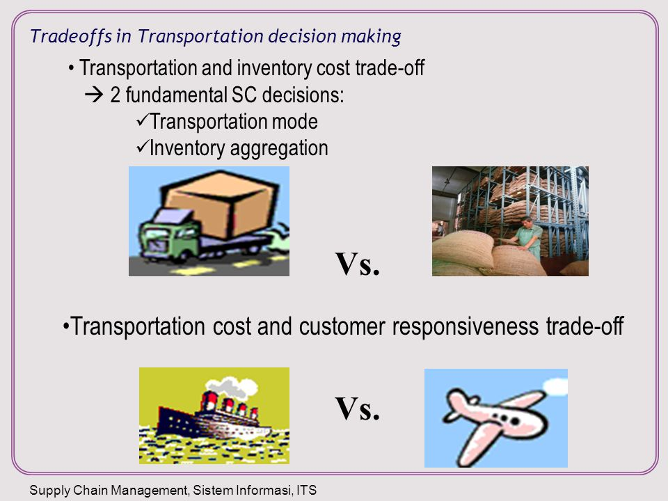 Tradeoffs in Transportation decision making