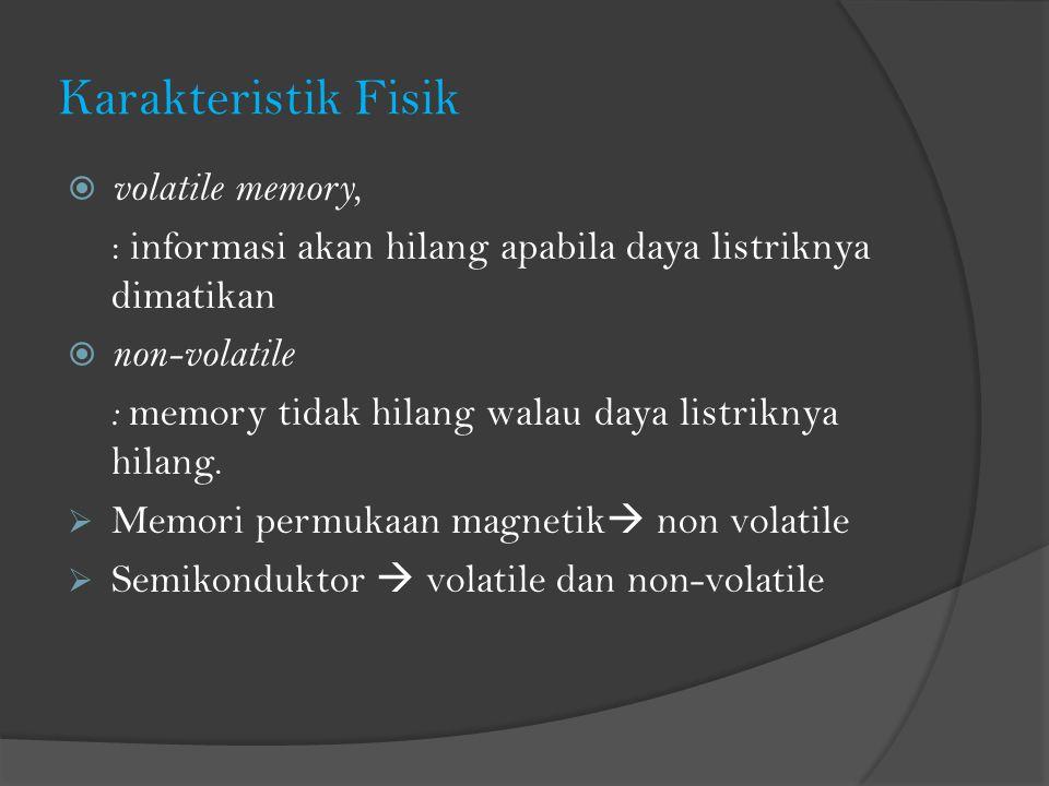 Karakteristik Fisik volatile memory,