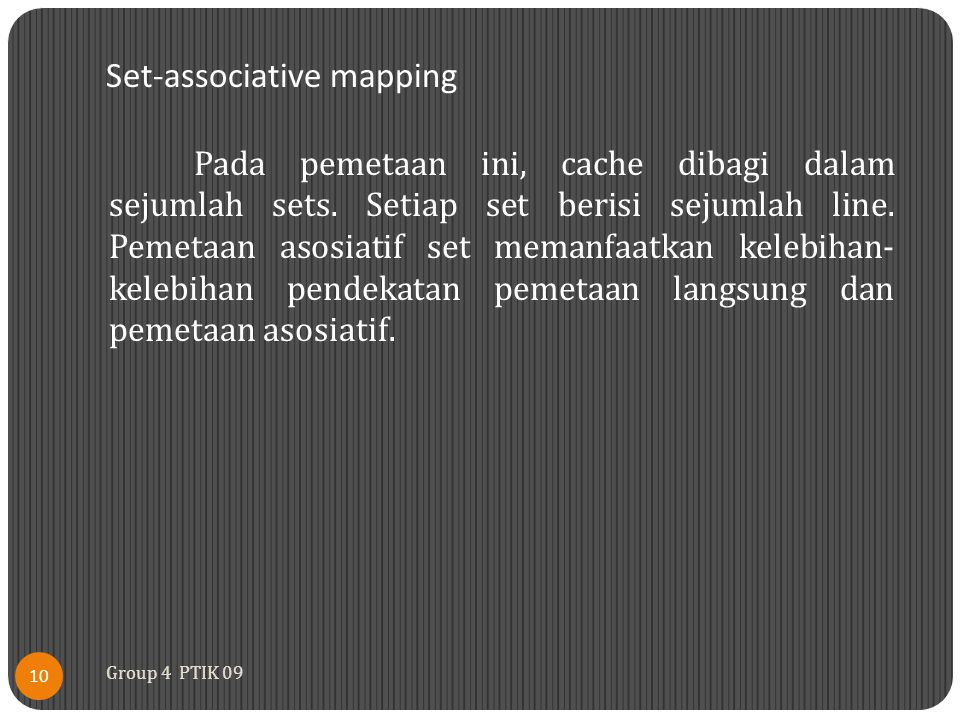 Set-associative mapping
