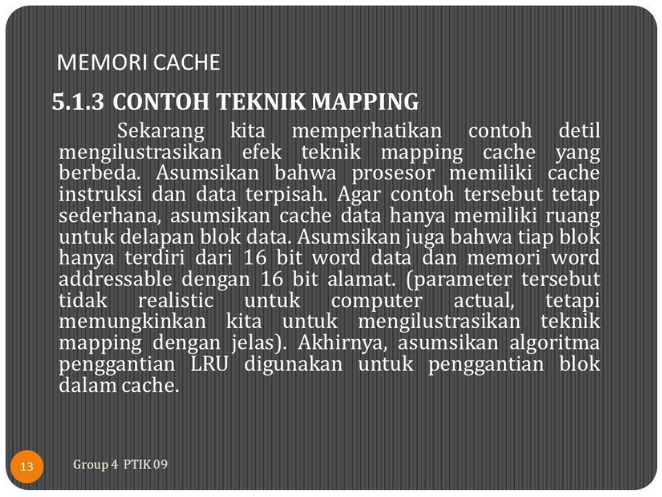 MEMORI CACHE 5.1.3 CONTOH TEKNIK MAPPING