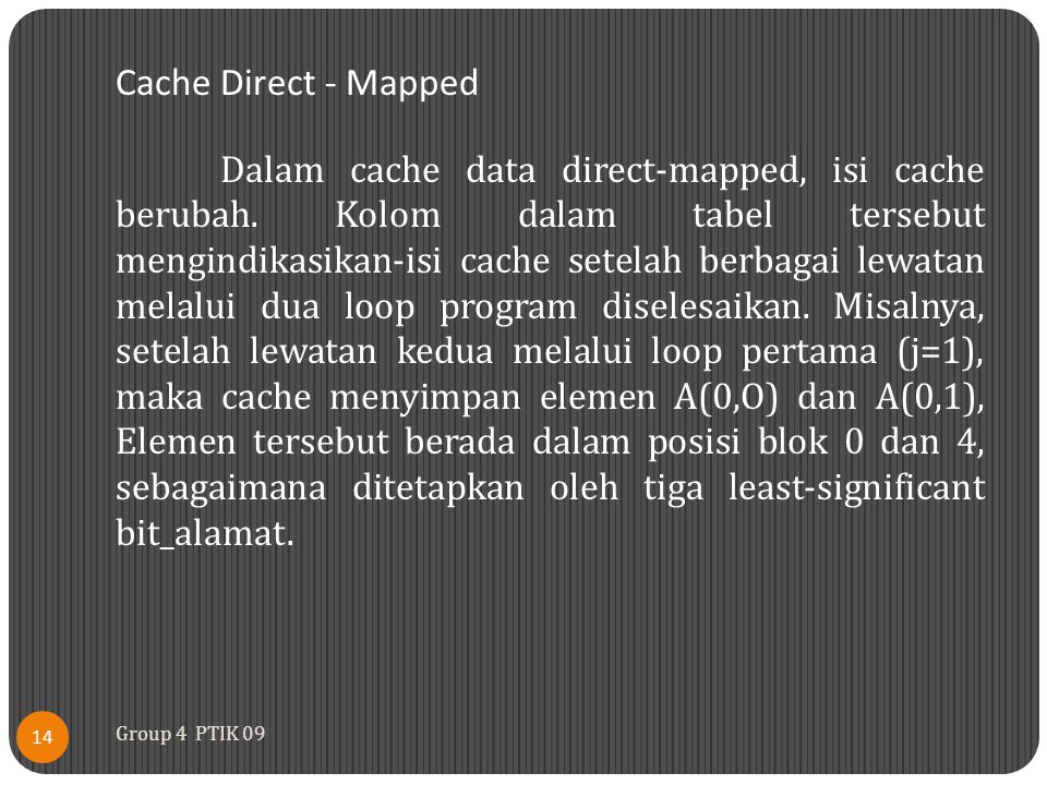 Cache Direct - Mapped