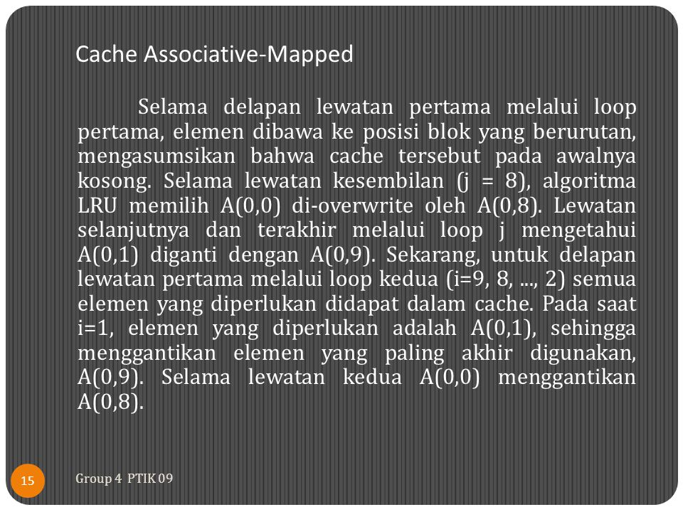 Cache Associative-Mapped