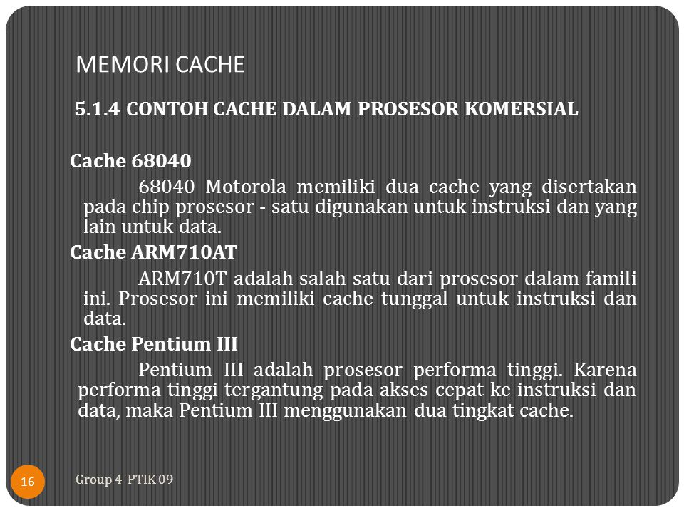 MEMORI CACHE