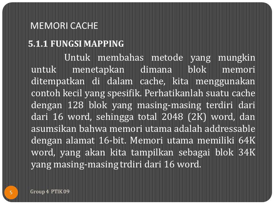 MEMORI CACHE 5.1.1 FUNGSI MAPPING.