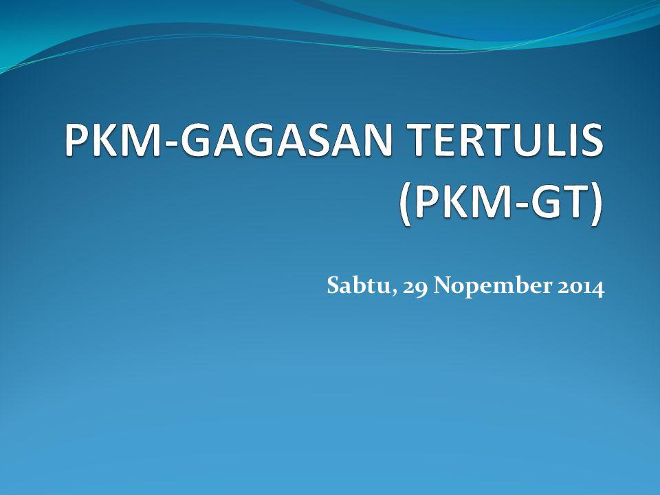 PKM-GAGASAN TERTULIS (PKM-GT)