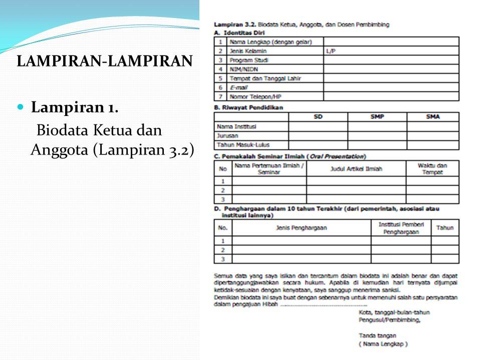 LAMPIRAN-LAMPIRAN Lampiran 1. Biodata Ketua dan Anggota (Lampiran 3.2)