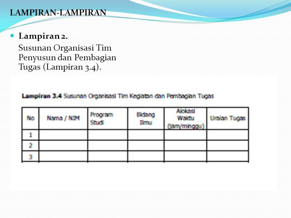 LAMPIRAN-LAMPIRAN Lampiran 2. Susunan Organisasi Tim Penyusun dan Pembagian Tugas (Lampiran 3.4).
