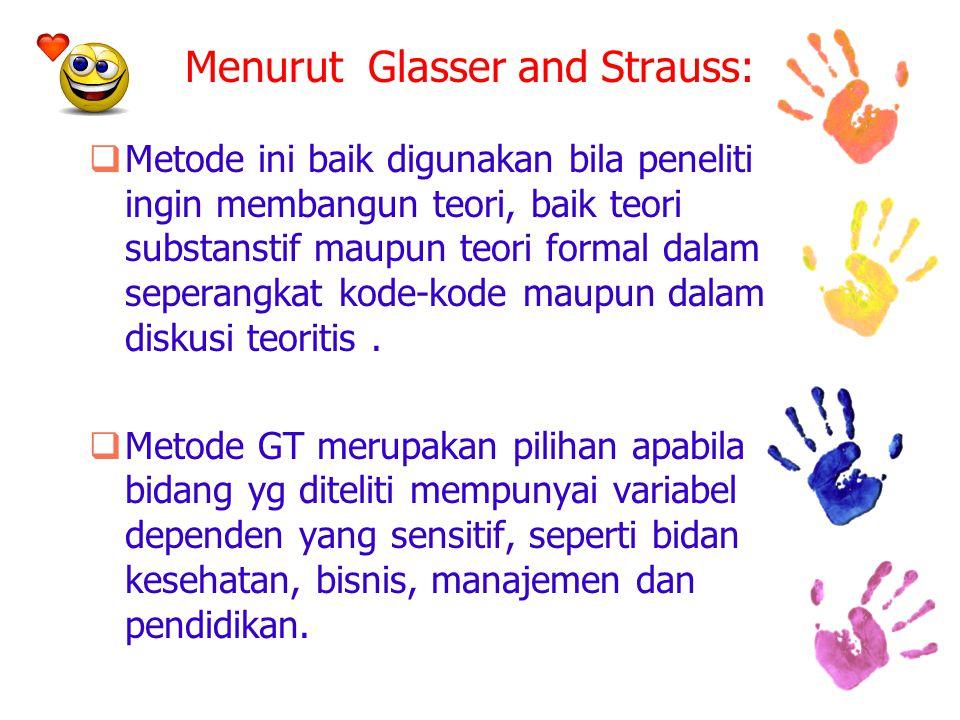 Menurut Glasser and Strauss: