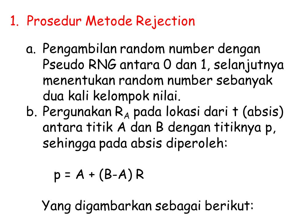 1. Prosedur Metode Rejection
