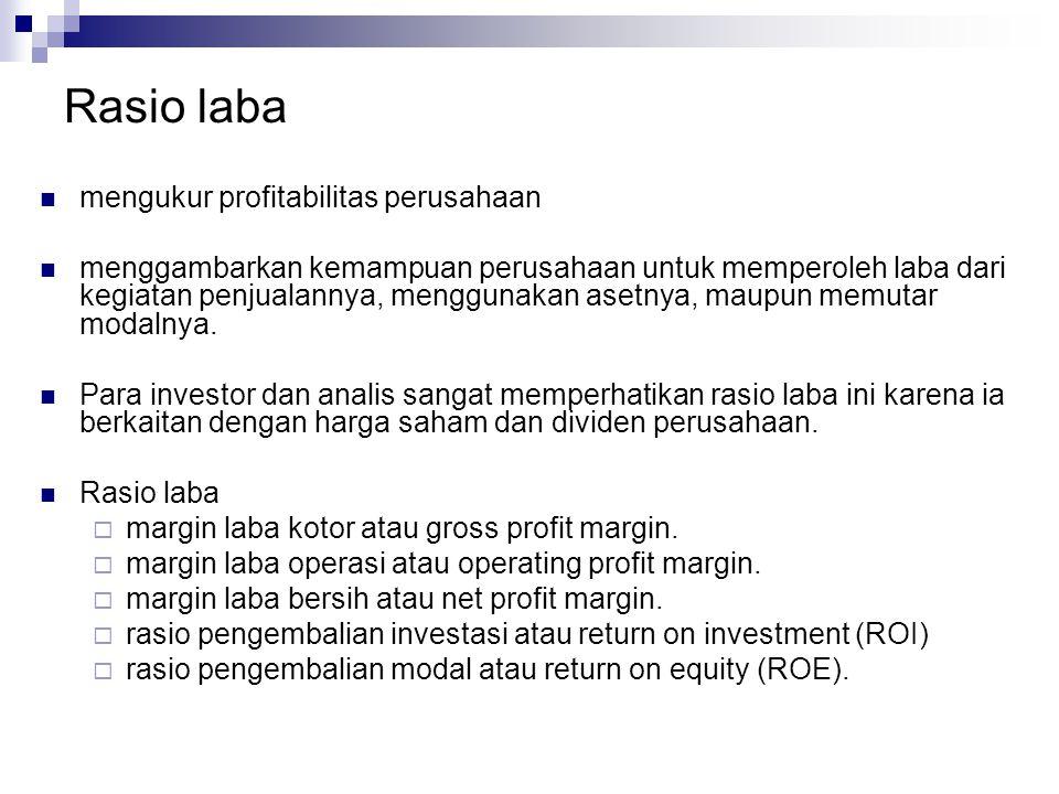 Rasio laba mengukur profitabilitas perusahaan