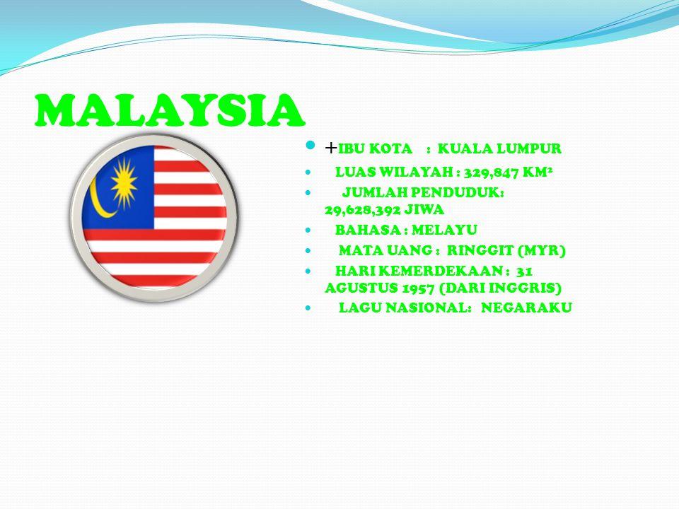 MALAYSIA +IBU KOTA : KUALA LUMPUR LUAS WILAYAH : 329,847 KM2
