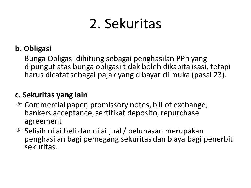 2. Sekuritas b. Obligasi.