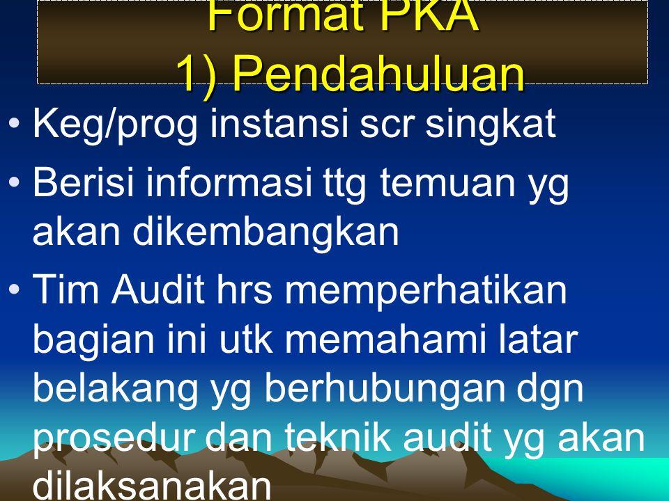 Format PKA 1) Pendahuluan
