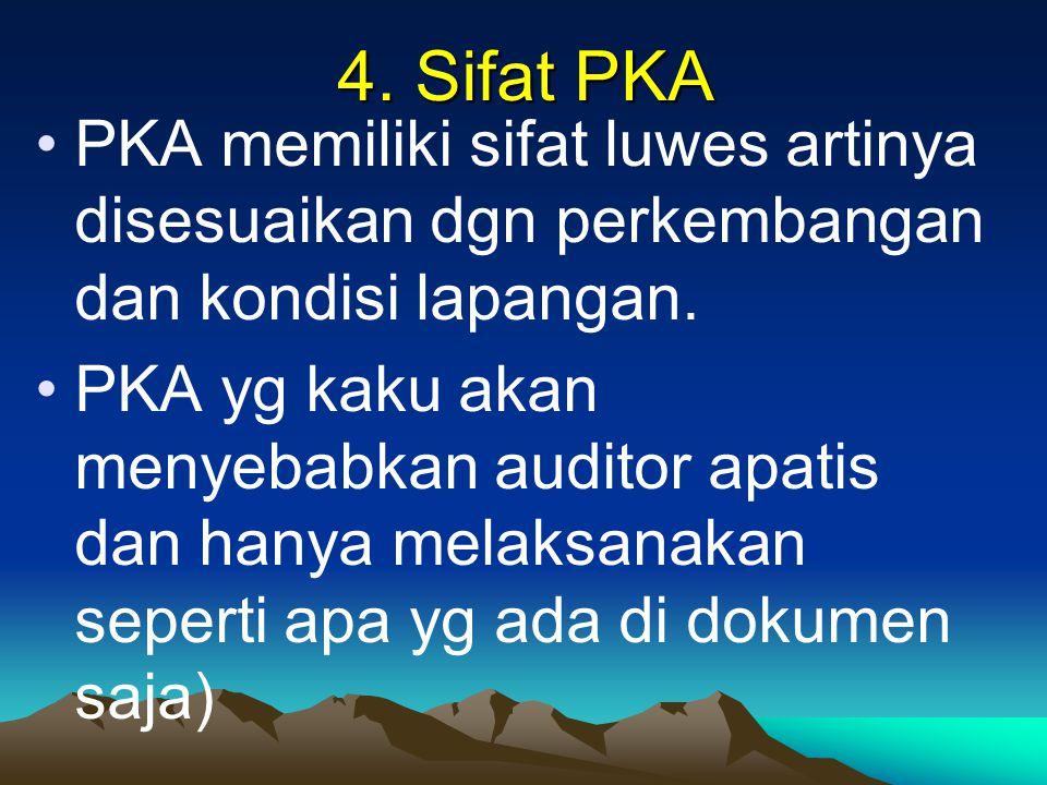 4. Sifat PKA PKA memiliki sifat luwes artinya disesuaikan dgn perkembangan dan kondisi lapangan.