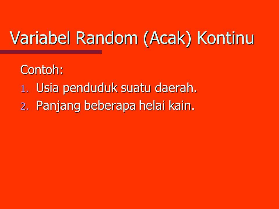 Variabel Random (Acak) Kontinu