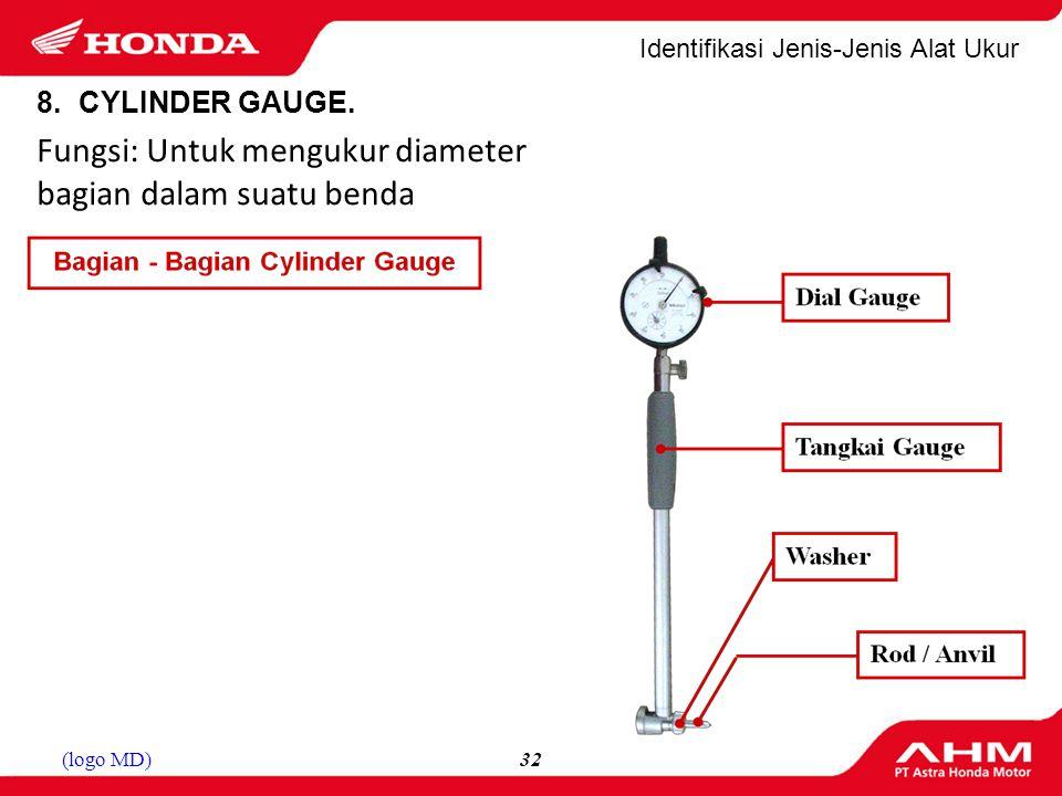 Fungsi: Untuk mengukur diameter bagian dalam suatu benda