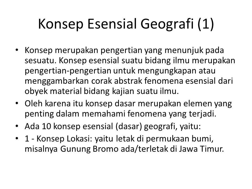 Konsep Esensial Geografi (1)