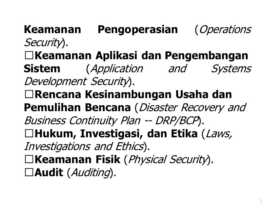 Keamanan Pengoperasian (Operations Security).