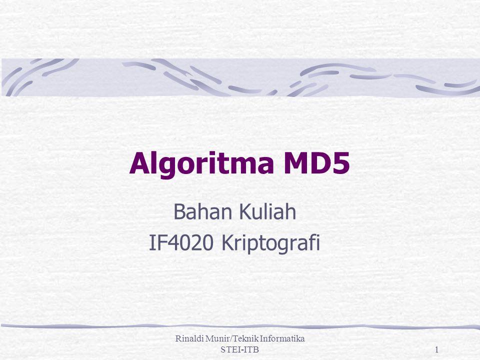 Bahan Kuliah IF4020 Kriptografi