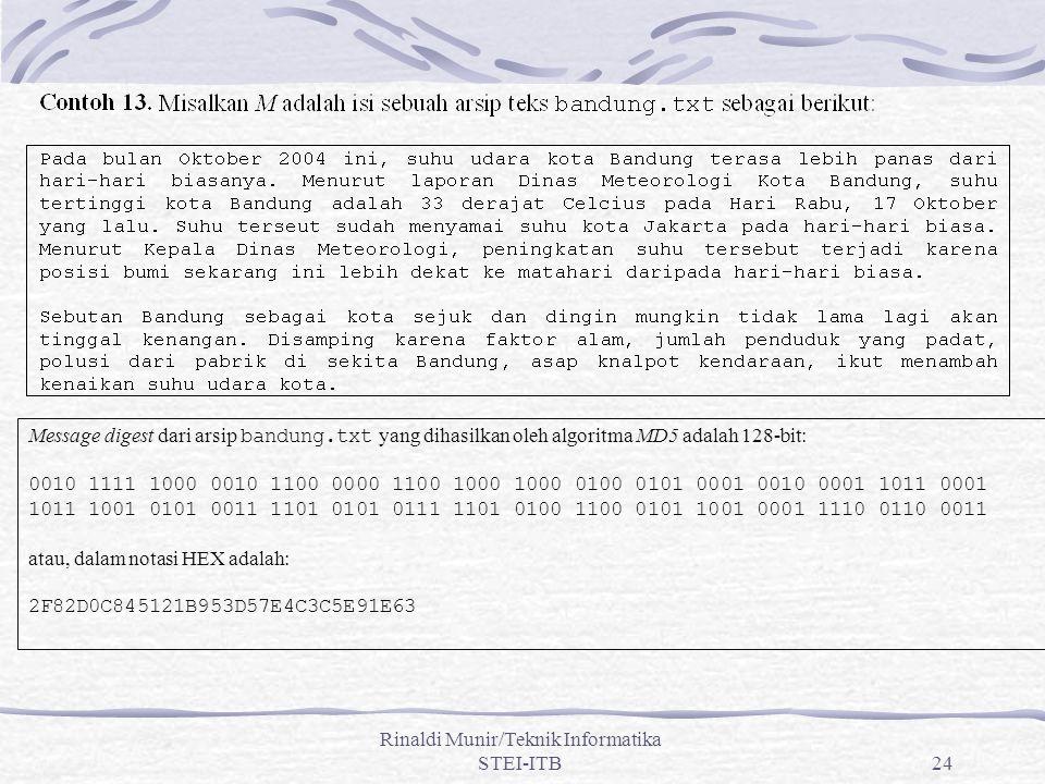 Rinaldi Munir/Teknik Informatika STEI-ITB