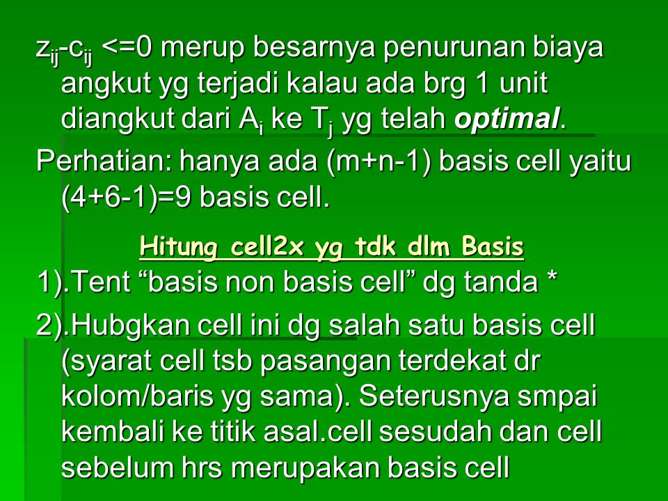 Hitung cell2x yg tdk dlm Basis