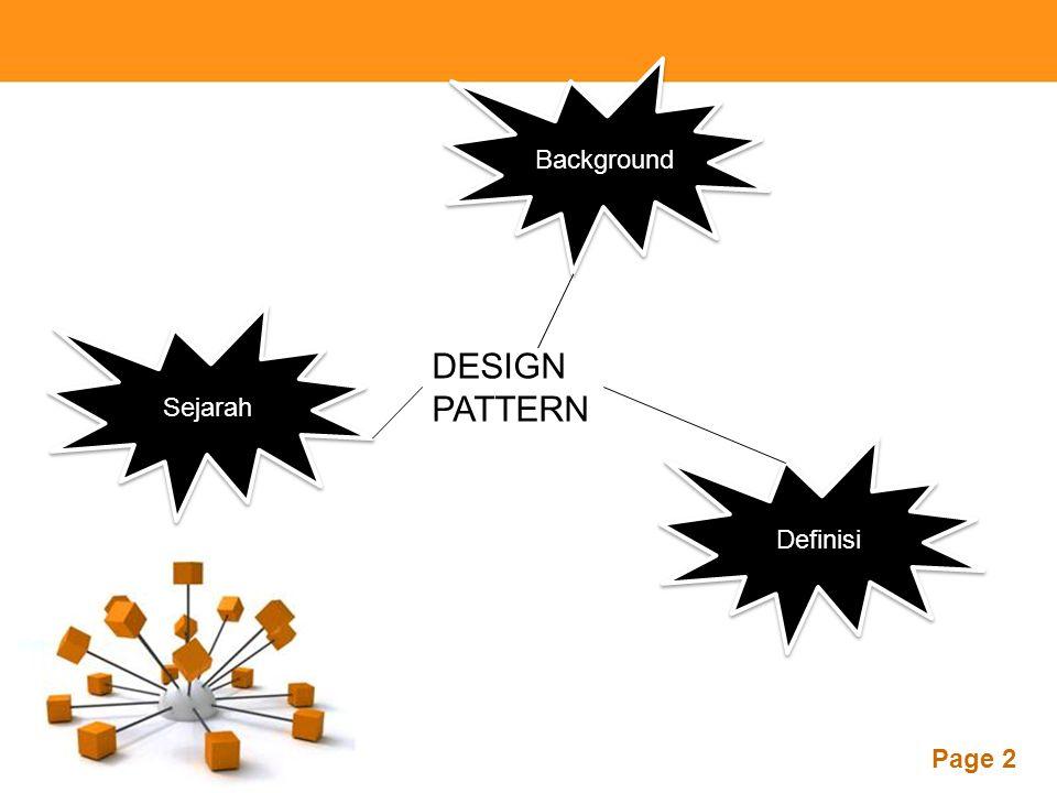 Background Sejarah DESIGN PATTERN Definisi