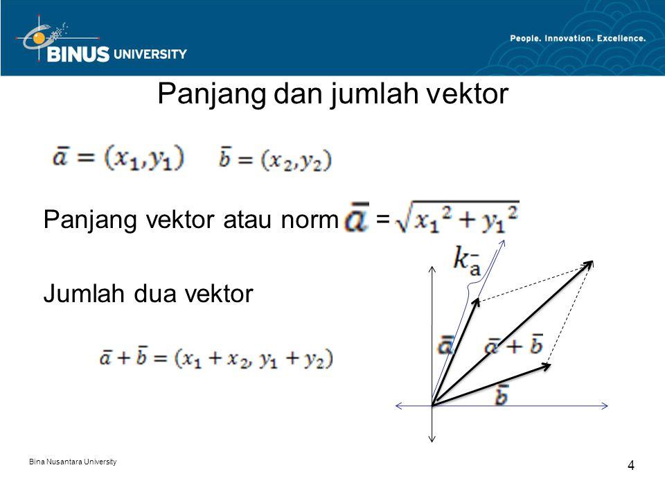Panjang dan jumlah vektor