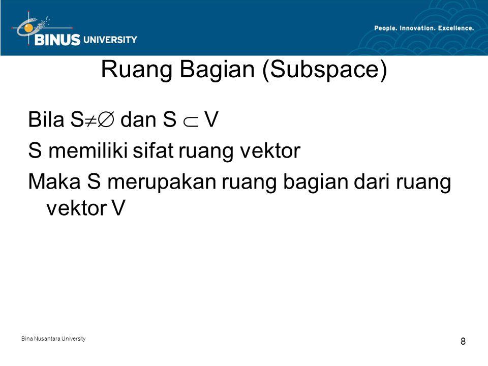 Ruang Bagian (Subspace)