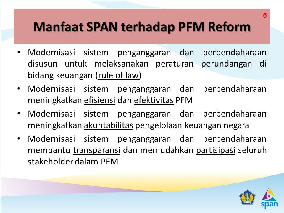 Manfaat SPAN terhadap PFM Reform