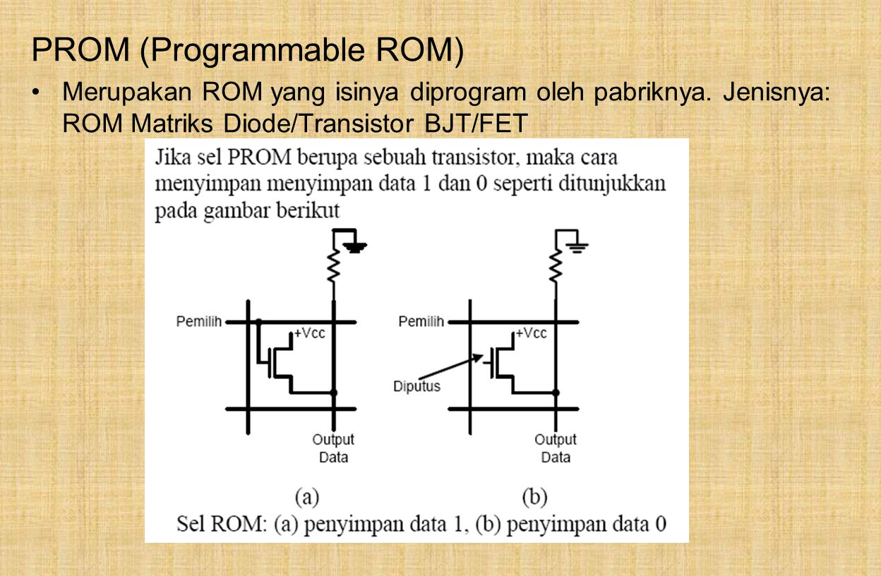 PROM (Programmable ROM)