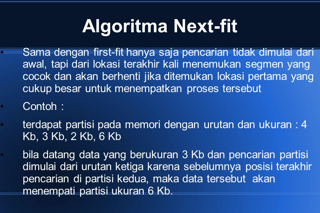 Algoritma Next-fit