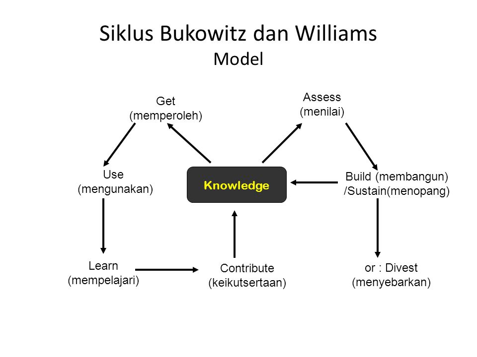 Siklus Bukowitz dan Williams Model