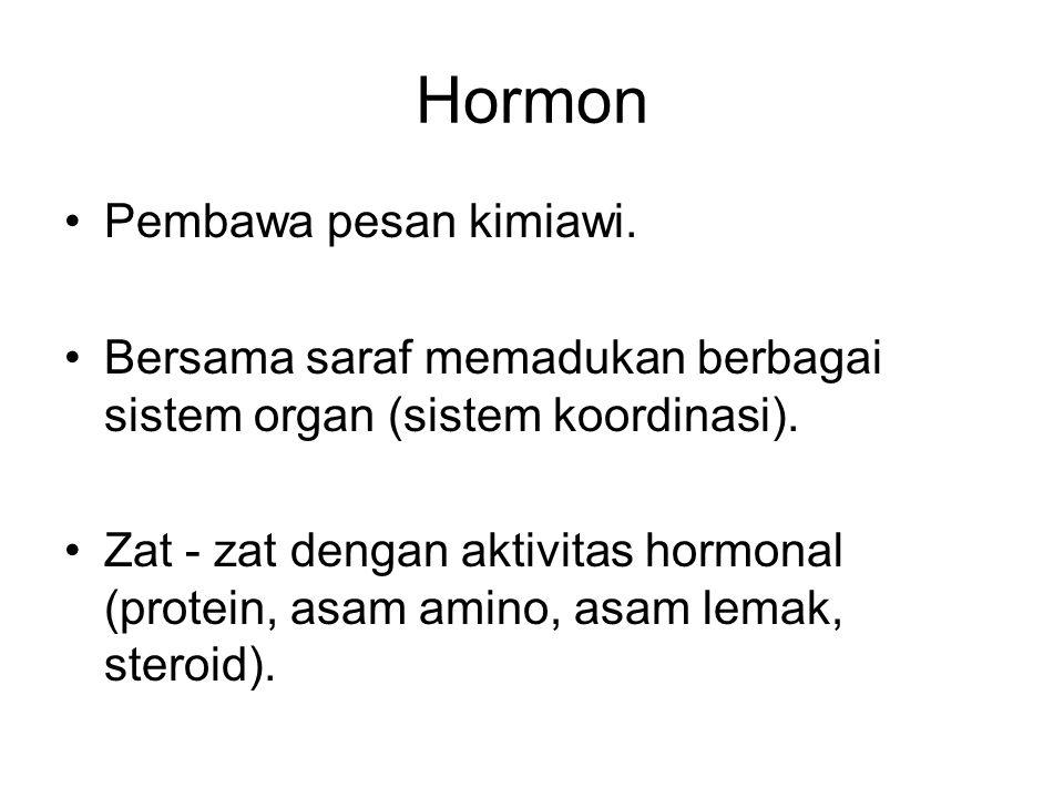 Hormon Pembawa pesan kimiawi.