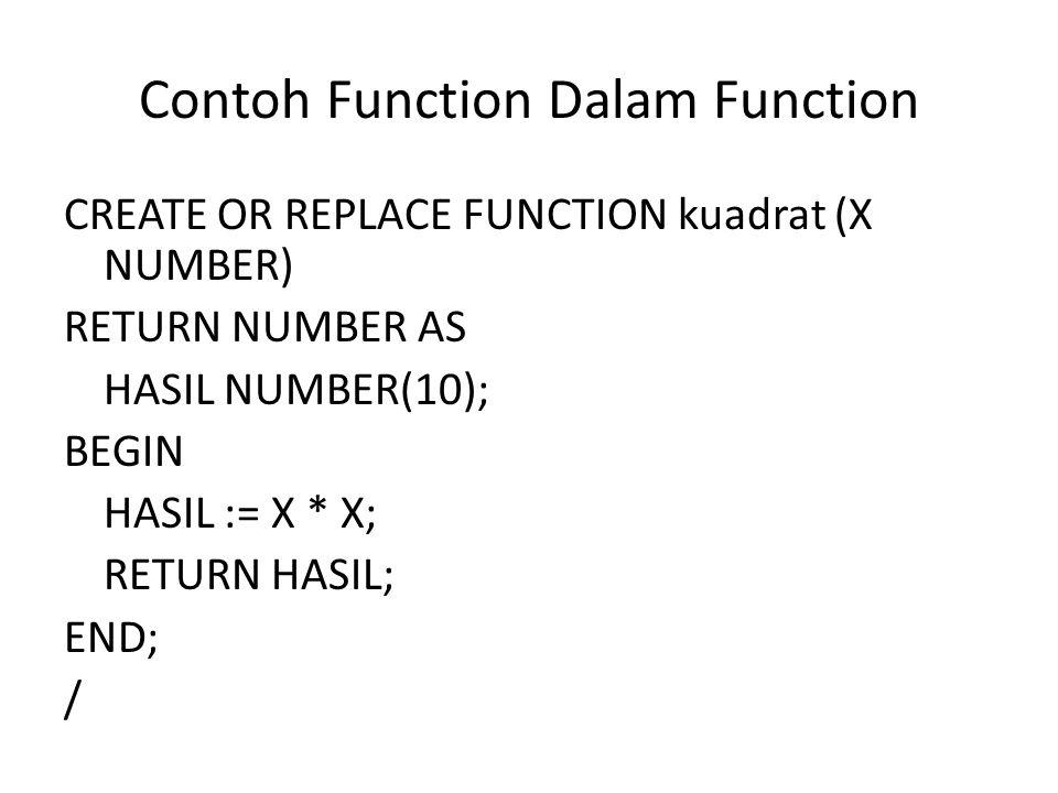 Contoh Function Dalam Function