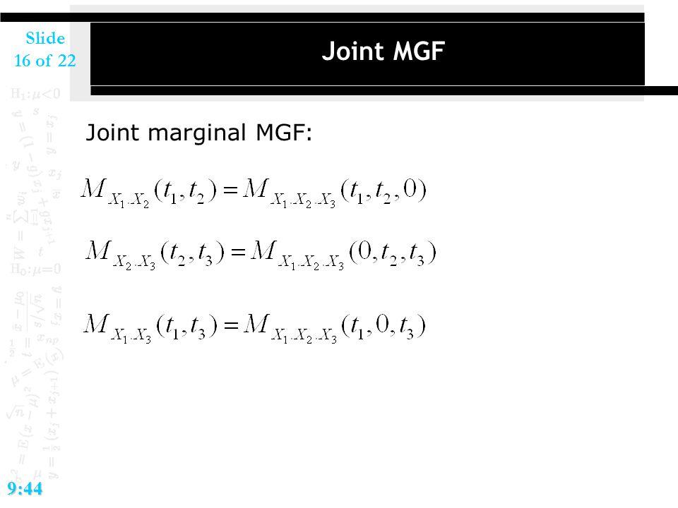 2017/4/14 Joint MGF Joint marginal MGF: 9:44 ミニセミ