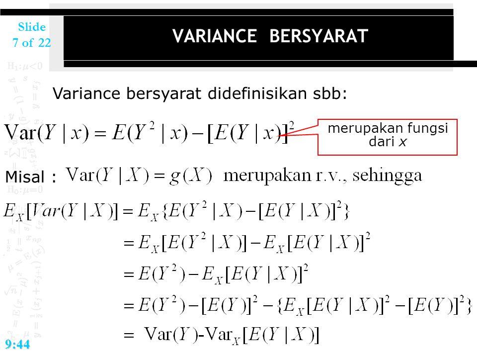 merupakan fungsi dari x