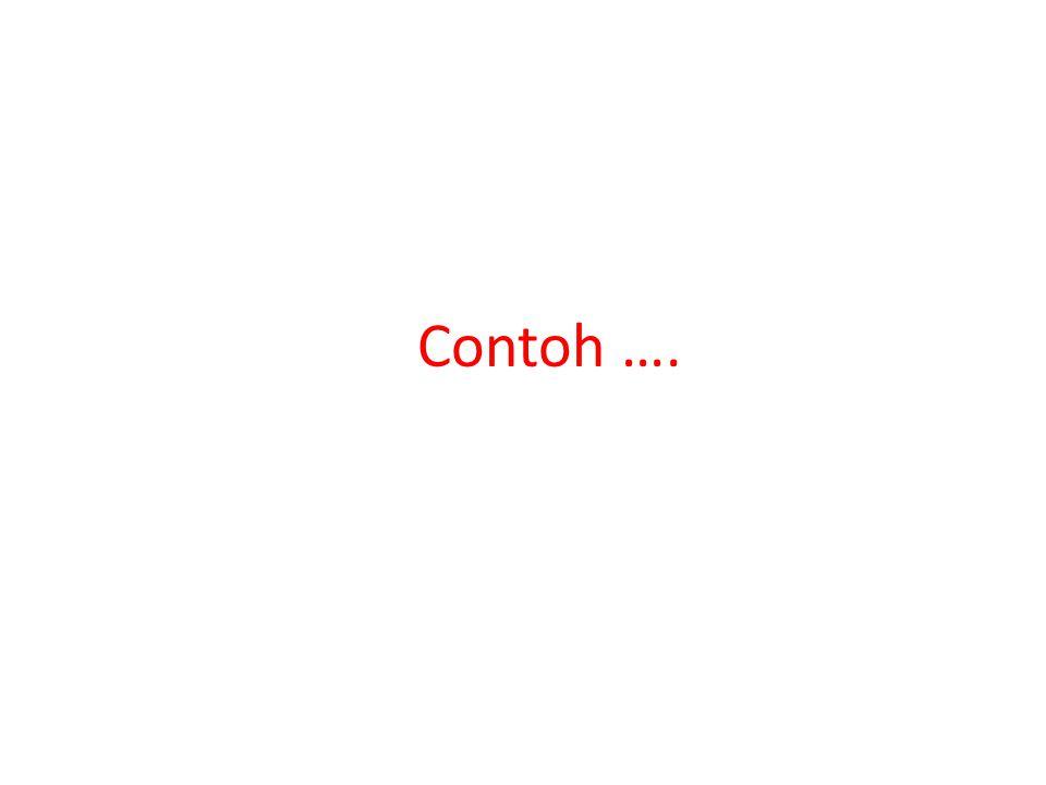 Contoh ….
